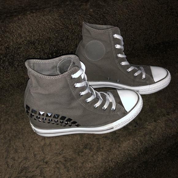 26408363e1ad Converse Shoes - Converse customized high heel high tops